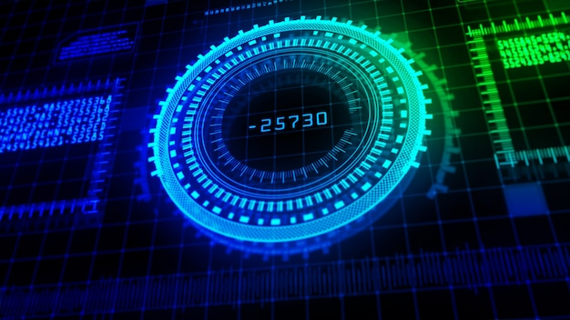 Hi-tech digital display holographic abstract background Premium Photo