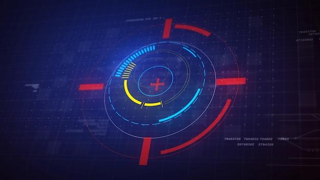 Hi-tech futuristic hud elementi del cerchio di visualizzazione Foto Gratuite