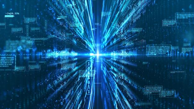 Hi-tech цифровой дисплей с голографической информацией абстрактный фон Premium Фотографии