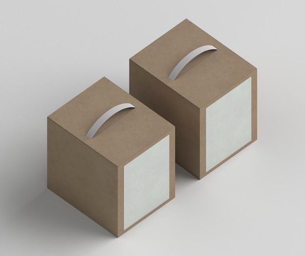Расположение картонных коробок под большим углом Бесплатные Фотографии