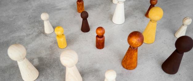 ハイアングルチェスの駒コレクション 無料写真