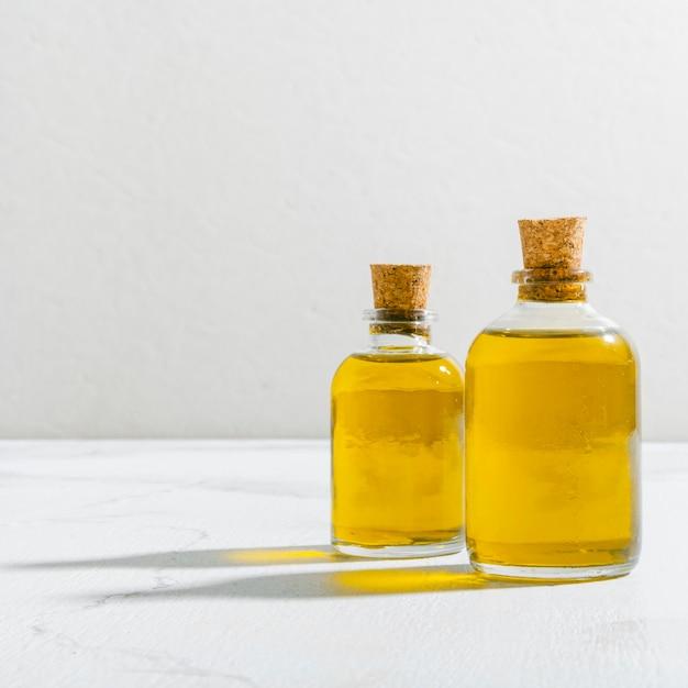 Косметическое масло под высоким углом Premium Фотографии
