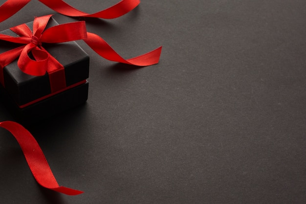 High angle of elegant gift with copy space Free Photo