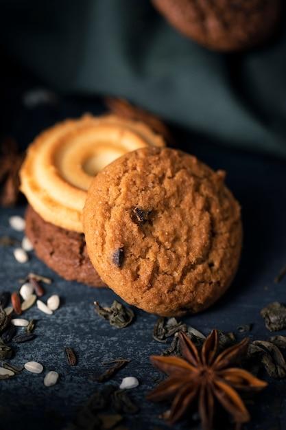 Ароматизированное печенье для чая Бесплатные Фотографии