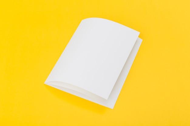 High angle folded brochure Free Photo