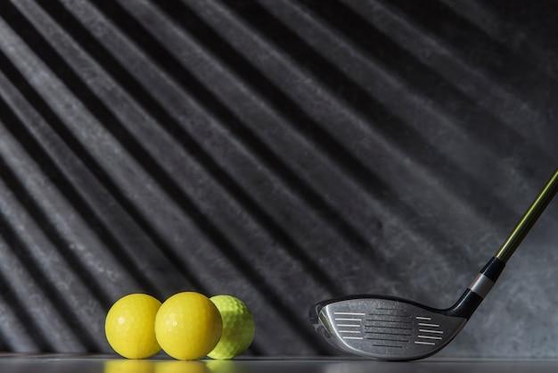 High Angle Golf Balls And Club Free Photo