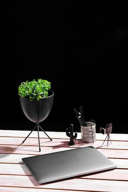 Высокий угол стола концепции с копией пространства Бесплатные Фотографии