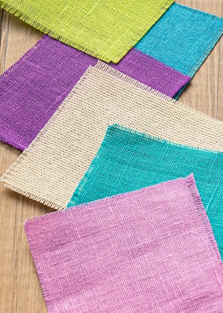 Большой угол наклона образцов ткани для пошива Бесплатные Фотографии