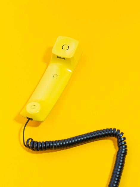 High angle old telephone Premium Photo