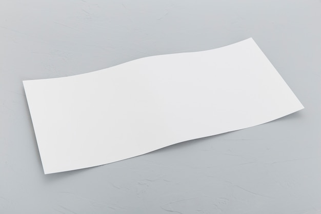 High angle rectangle brochure on desk Free Photo