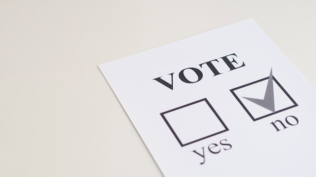 High angle referendum choice Free Photo