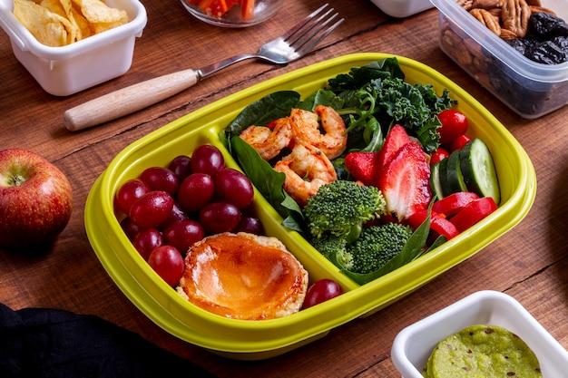 Креветки, овощи и фрукты Бесплатные Фотографии