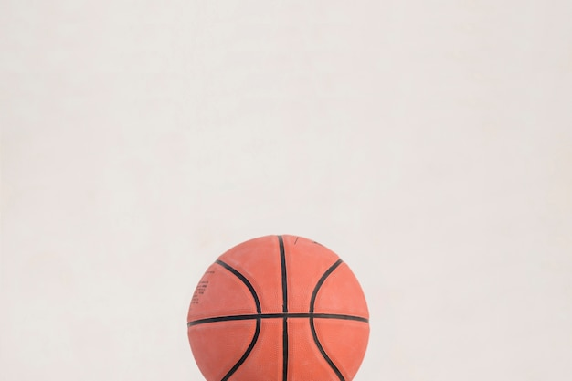 High angle view of basketball on white background Free Photo