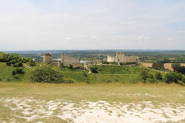 Veduta dall'alto del castello gaillard in francia Foto Gratuite