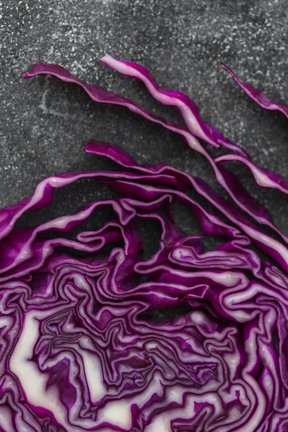 High angle view of fresh purple cabbage Free Photo