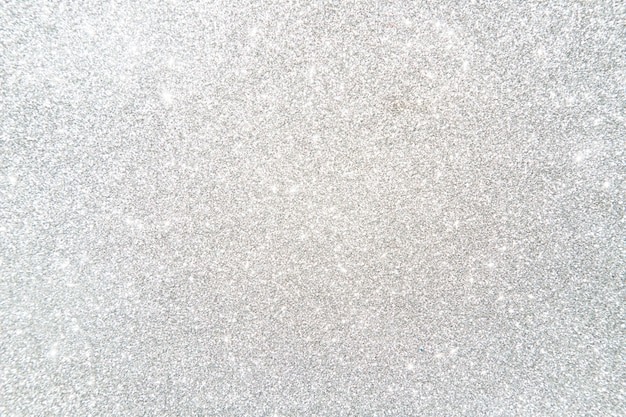 High angle view of shiny silver colored glitter background Free Photo