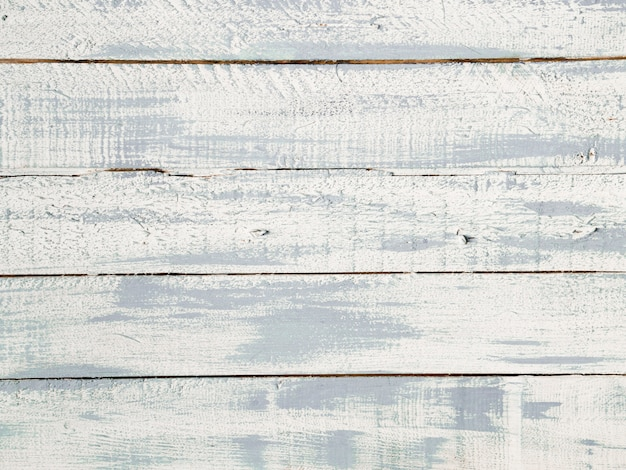 High angle view of white wooden plank texture Free Photo