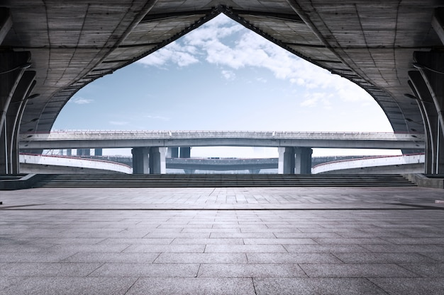 High concrete bridge Free Photo