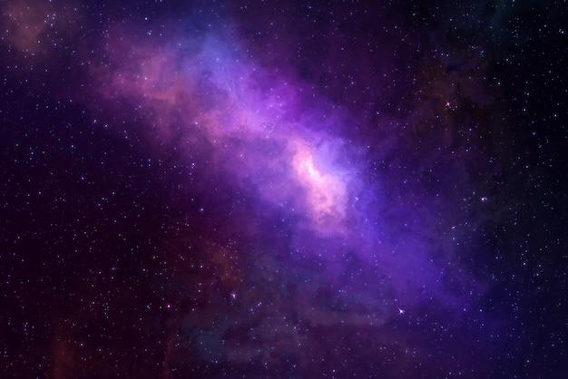 Звездное поле высокой четкости, красочное ночное небо. туманности и галактики в космосе. предпосылка концепции астрономии. Premium Фотографии
