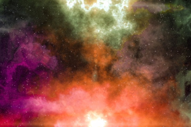 High definition star field, colorful night sky space. nebula and galaxies in space. astronomy concept background. Premium Photo
