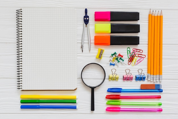 High quality school materials Free Photo