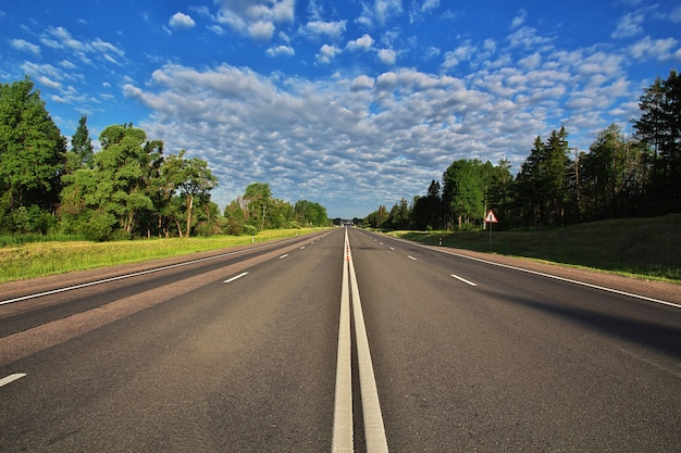 High speed road in belarus Premium Photo