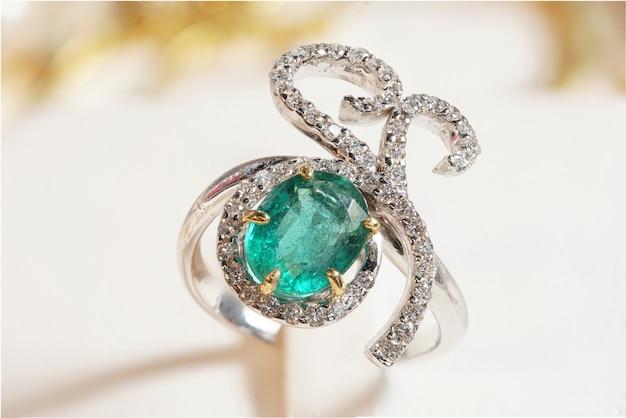 High value gems stone accessories, gold, diamond, ruby, pearl, earrings Premium Photo