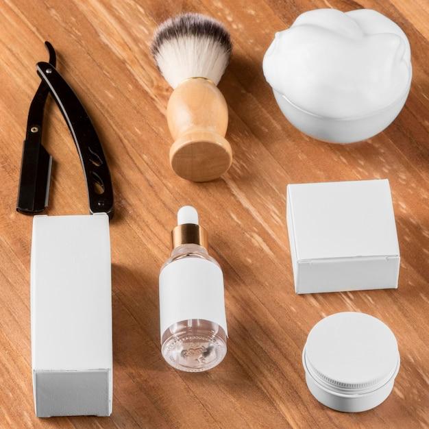Инструменты парикмахерской с высоким обзором Бесплатные Фотографии