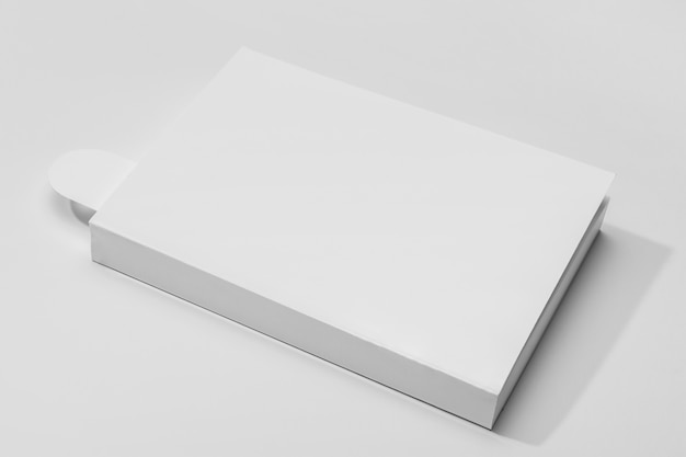 High view book with bookmark and shadows Premium Photo