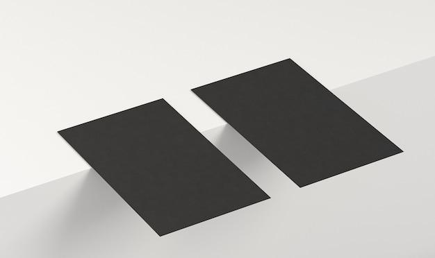 Черные визитки с копией пространства Бесплатные Фотографии