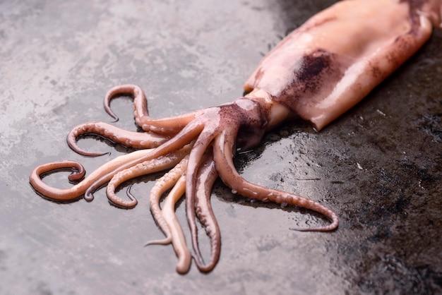 Экзотическое блюдо из морепродуктов из осьминога Бесплатные Фотографии