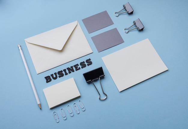 Высокий просмотр офисных товаров и визиток Бесплатные Фотографии