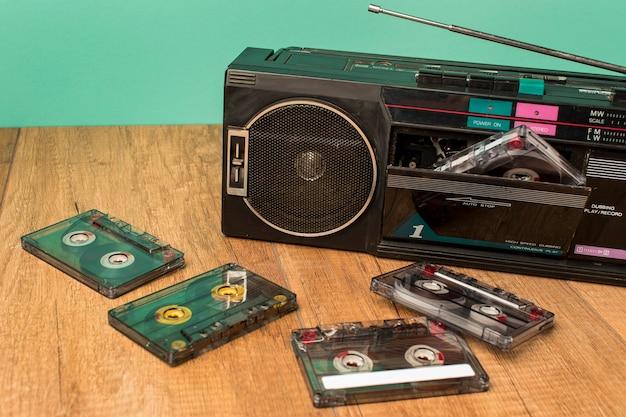 Высококачественные старомодные кассеты и кассеты Бесплатные Фотографии