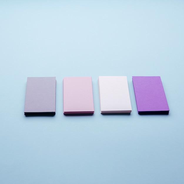 Визитные карточки пастельных тонов высокого разрешения Бесплатные Фотографии