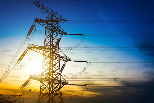 High voltage post or high voltage tower Free Photo