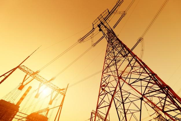 High voltage post Premium Photo