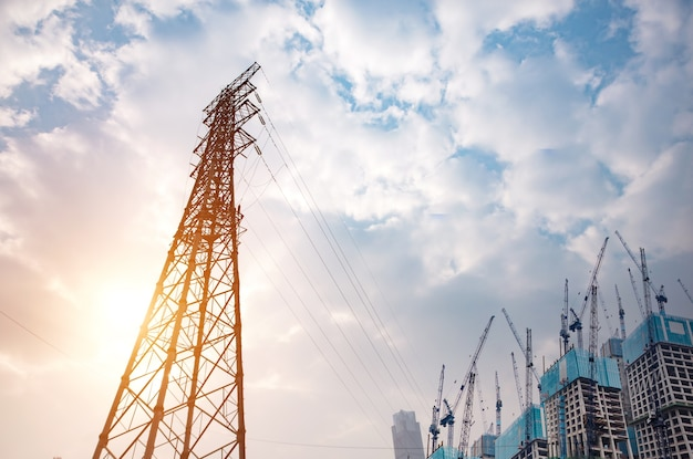 High voltage towers Free Photo