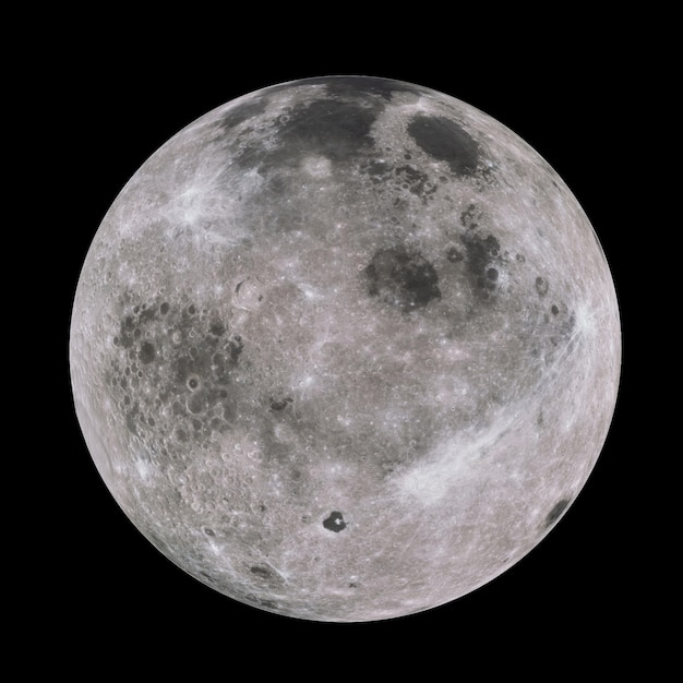 Highly detailed moon in galaxy Premium Photo