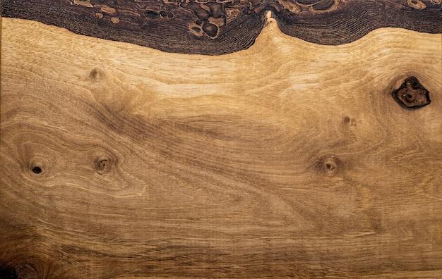 A hight resolution texture of brown oak wood desk Premium Photo
