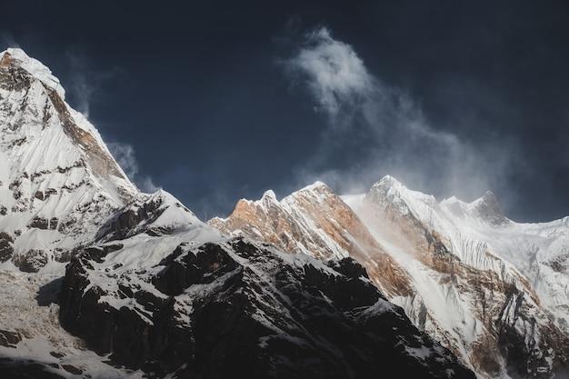 Himalayas mountain landscape in the annapurna base camp Premium Photo