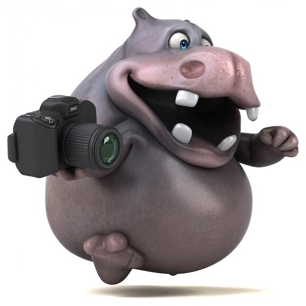 Анимация бегемота Premium Фотографии