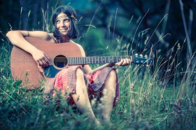 Hippy girl Premium Photo