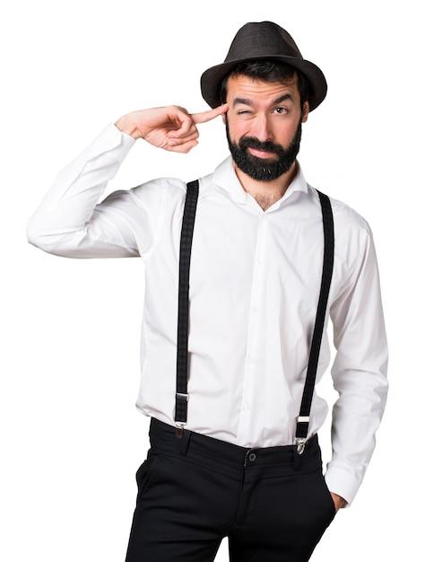 ひどいジェスチャーをしているヒヒの男 無料写真