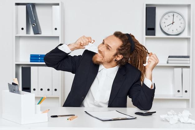 Hipster man with dreadlocks Premium Photo