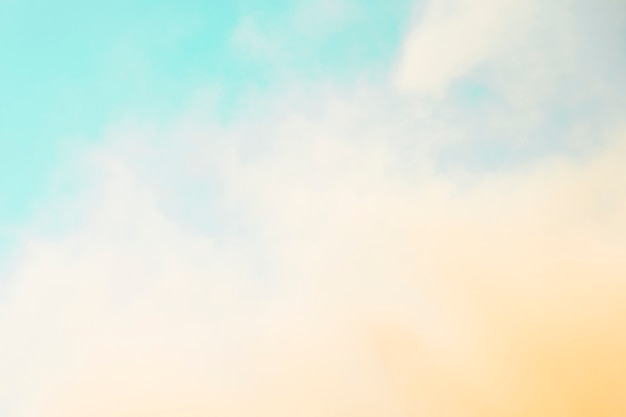 Holi color spread in front of blue sky Free Photo