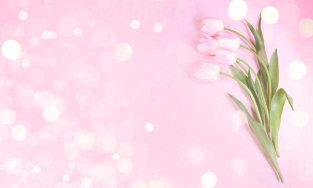 Праздничный фон на день матери, 8 марта, день рождения Premium Фотографии