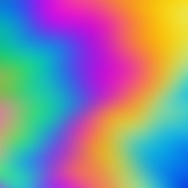 Holographic rainbow blurred background Premium Photo