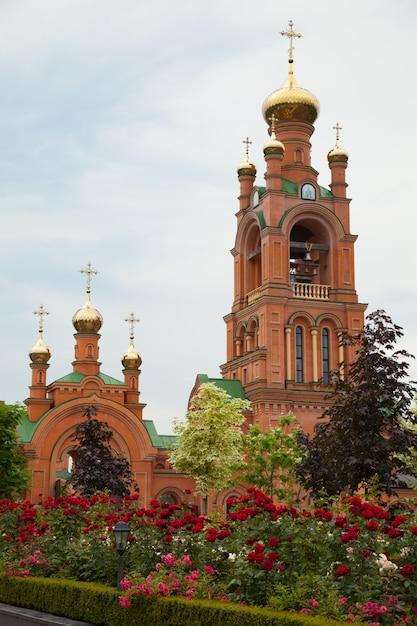 Holosiivskyi mens monastery ukraine kiev. religion christianity orthodox culture Premium Photo