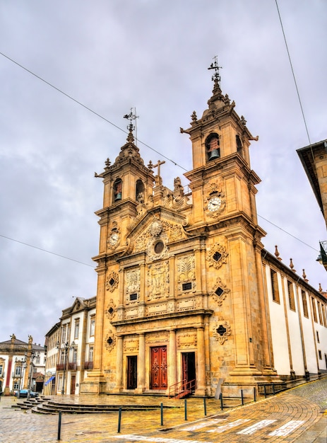 The holy cross church in braga portugal Premium Photo