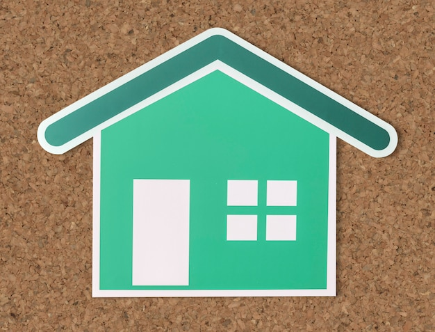 Home insurance cut out icon Free Photo